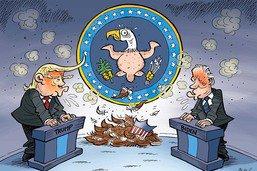 Débat présidentiel toxique: l'Amérique perd des plumes