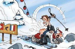 Macron punira les Français qui skieront en Suisse