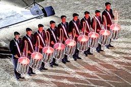 Les percussions font leur spectacle